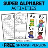 Superhero Alphabet (flashcards, handwriting & fluency)