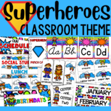 Superhero Classroom Themed Decor and Organizational Pack