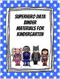 Superhero Data  Binder Materials for Kindergarten