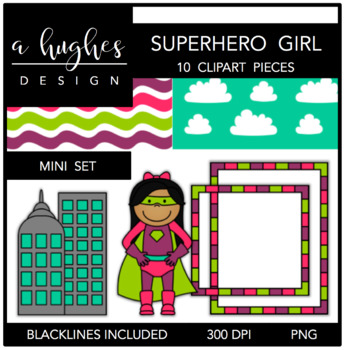 Superhero Girl Mini Set {Graphics for Commercial Use}