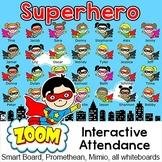 Superhero Theme Interactive Attendance Sheet for Interacti