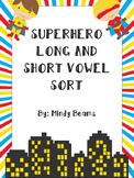 Superhero Long and Short Vowel Sort