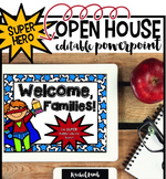 Superhero Themed Parent Night Open House Powerpoint!