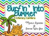 Surfin' Into Summer Literacy Centers
