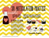 "Sushi for Speech: ""SH"" Articulation Mini-Book"