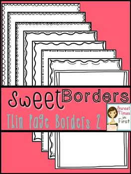 Sweet Borders: Thin Page Borders SET TWO {Graphics For Com