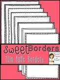 Sweet Borders: Thin Paper Borders {Graphics For Commercial Use}