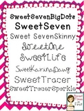 Sweet Fonts: Perfect for Educational Materials {for Person