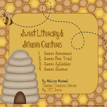 Sweet Literacy & Science Centers - 4 honeybee themed centers!