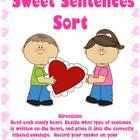 Sweet Sentences Sort! A Valentine's Day Themed Grammar Cen