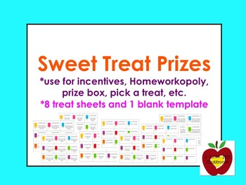 Sweet Treat Prizes - Freebie