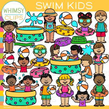 Swim Kids Clip Art