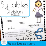 Syllable Division Practice Worksheets (Word Surgery!)