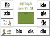 Syllable Safari Final Stable Syllable Literacy Center Game