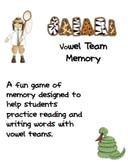 Syllable Safari Vowel Team Memory
