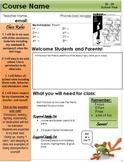 Syllabus - Newsletter Style - Keene