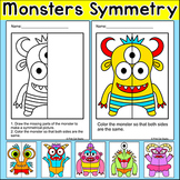 Symmetry Monsters - Math Centers or Morning Work Activity