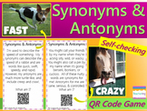 Synonyms & Antonyms QR Code Activity {Self-Checking iPad,