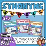 Synonyms Task Card Bundle: Grades 2-3