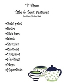 """T"" Time - Title & Text Features For Non-Fiction"