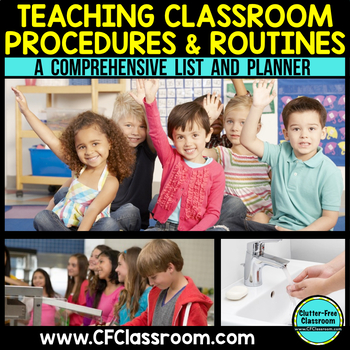 TEACHING PROCEDURES & ROUTINES {Blackline Design} classroom management tool