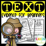 TEXT EVIDENCE FOR BEGINNERS(EXPLICIT)