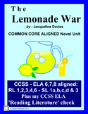 The Lemonade War,  Novel Unit:  Common Core Aligned