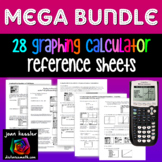 Graphing TI 83 - 84 Mega Bundle of 26 Teaching Learning Ha