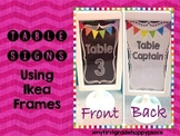 Table Signs using Ikea Frames
