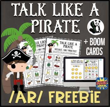 Talk Like a Pirate /ar/ FREEBIE: Speech Therapy/Articulation