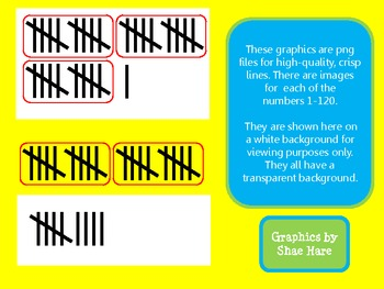 Tally Mark Clip Art - Math Common Core Numbers 1-120 Tallies