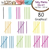 Tally Mark Set: Clip Art Graphics for Teachers
