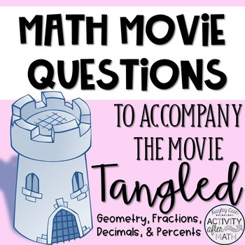 Tangled Math Movie Questions! Great end of the year activity!