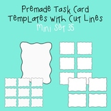 Task Card Template - Mini Set 35 - frames - borders