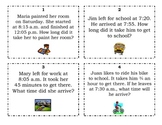 Task Cards - Elapsed Time
