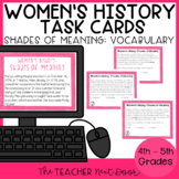 Task Cards: Shades of Meaning Words for Women's History Month