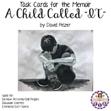Task Cards for the memoir A Child Called IT by David Pelzer