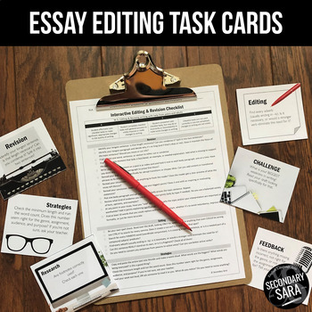 Editing Checklist, Revision Activity, & Task Cards Kit