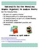 Taskcards, Tic-Tac-Toe Menu, and Graphic Organizers to Ana