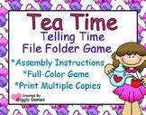 Tea Time Telling Time File Folder Game
