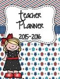 Teacher Binder 2015-2016 (Red, White, & Blue)