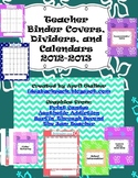 Teacher Binder Covers, Calendars, Dividers, and Lesson Pla