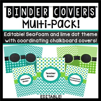 https://www.teacherspayteachers.com/Product/Binder-Covers-Editable-Seafoam-and-Lime-Dots-and-Chevron-Theme-733783