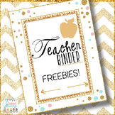 Teacher Binder Freebies