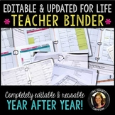 Editable Teacher Binder Bundle: Gradebook, Forms, Lesson P