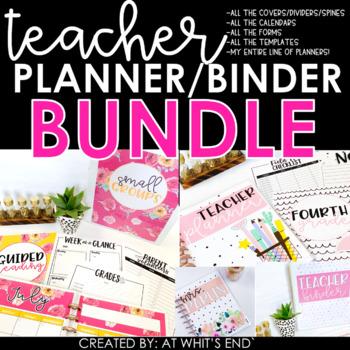 EDITABLE Teacher Binder BUNDLE {plus..Meet The Teacher, Forms & Calendars}