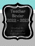 Teacher Binder - Mission Organization Chalkboard & Gray/Te