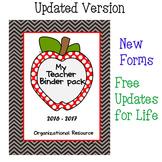 Teacher Binder Organizational Pack - Chevron