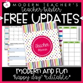 Teacher Binder Planner & Organizer Common Core Editable -