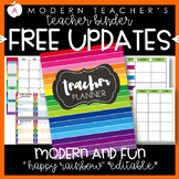 Teacher Binder Planner Organizer, Common Core, Editable, H